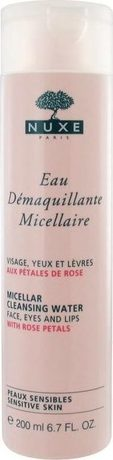Почистваща мицеларна вода ,Nuxe Micellar Cleansing Water with Rose Petals , 200ml