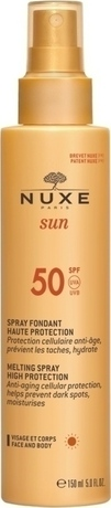 Слънцезащитен млечен спрей за лице и тяло , Nuxe Sun Milky Spray for Face & Body SPF50 150ml