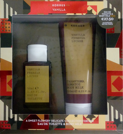 Сет за жени парфюм + мляко за тяло , Korres set Vanilla/Freesia/Lychee Eau De Toilette 50ml & Body Milk 125ml