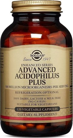 Хранителна добавка пробиотици Acidophilus Plus  , Solgar Advanced Acidophilus Plus 120 Caps Probiotic