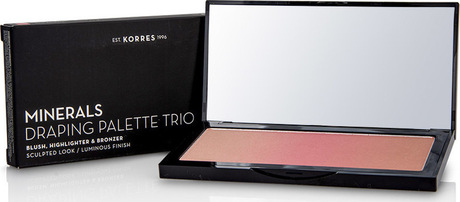 Минерална драпинг пудра  Trio Pink , Korres Minerals Draping Palette Trio Pink