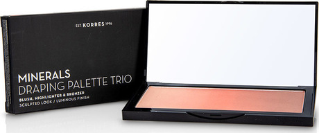 Минерална драпинг пудра  Trio Coral , Korres Minerals Draping Palette Trio Coral
