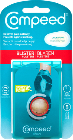 Пластири за мехури и рани за ходило , Compeed Underfoot Blisters Pads 5 Items