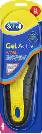 Стелки с технология GelActiv за работа дамски , Scholl Gelactiv Work Insoles for Women (Size 35.5-40.5)