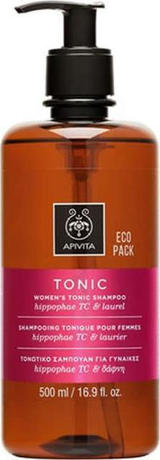 Шампоан за жени против косопад , Apivita Women's Tonic Shampoo with Hippophae TC & Bay Laurel 500ml Eco Pack
