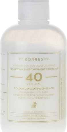Лосион окислител  за боя за коса 40% Korres Abyssinia ,Korres Abyssinia Color Developing Emulsion 20 Volume 150ml4