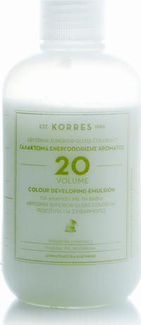 Лосион окислител  за боя за коса 20% Korres Abyssinia ,Korres Abyssinia Color Developing Emulsion 20 Volume 150ml