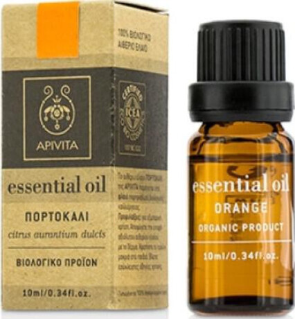 100% биологично етерично масло Портокал , Apivita Essential Oil Orange 10ml