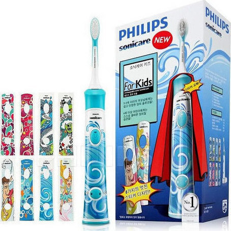 Детска електрическа четка за зъби , Philips Sonicare HX6311/07 For Kids Electric toothbrush White, Light blue