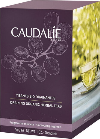 Чай за отслабване , Caudalie Draining Organic Herbal Teas, 30gr