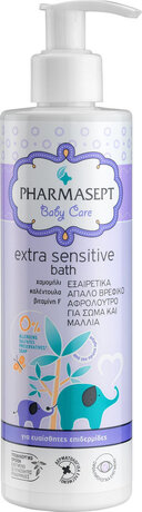 Измиващ гел за тяло и коса , Pharmasept Tol Velvet Baby Extra Sensitive Bath 250ml