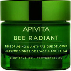 Гел-крем против стареене и признаци на умора с лека текстурa , Apivita Bee Radiant Signs of Aging & Anti-Fatigue White Peony & Patented Propolis Gel-Cream Light Texture, 50ml