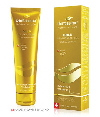 Паста за зъби  Избелваща sys zlato , Dentissimo Advanced  Whitening GOLD   toothpaste-gel  75