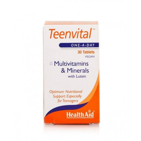 ХЕЛТ ЕЙД ТИИНВИТ МУЛТИВИТАМИНИ ЗА ЮНОШИ 30 ТАБЛ / HEALTH AID TEENVITAL MULTIVITAMINS 30vetabs
