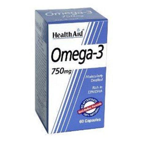 ХЕЛТ    ЕЙД ОМЕГА 3 750 МГ 60КАПС/ HEALTH AID OMEGA 3 750MG 60caps