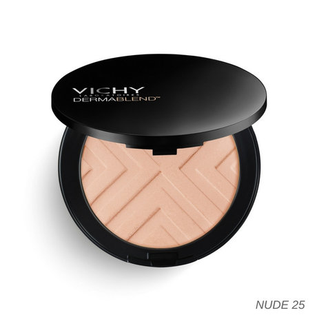 ВИШИ КОМПАКТНА ПУДРА DERMABLEND COVERMATTE SPF25 NUDE 25 9.5GR / VICHY DERMABLEND COVERMATTE SPF25 COMPACT POWDER FOUNDATION NUDE 25 9.5GR