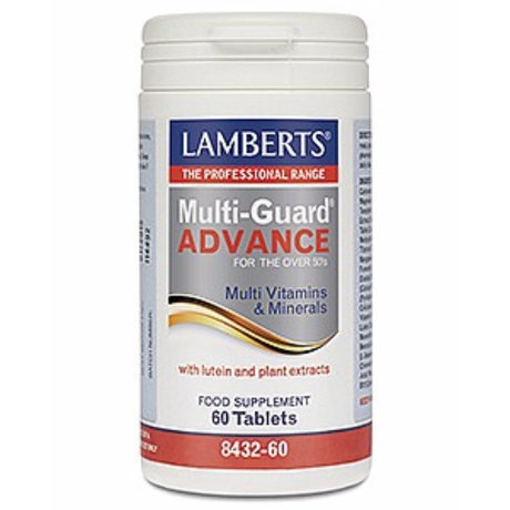 ЛАМБЕРТС МУЛТИВИТАМИНИ 50+  MULTI GUARD ADVANCE 60 ТАБЛ /  LAMBERTS MULTI GUARD ADVANCE 60 TABLETS
