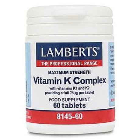 ЛАМБЕРТС ВИТАМИН K2 90mg, 60 КАПС / LAMBERTS VITAMIN K2 90mg, 60Caps