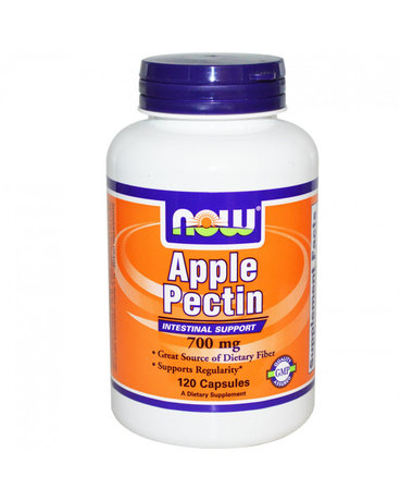 НАУ ФУДС ЯБЪЛКОВ ПЕКТИН КАПСУЛИ 700 МГ. * 120 / NOW APPLE PECTIN 700 MG, 120 CAPS
