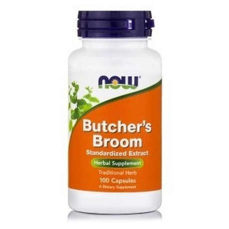 НАУ ФУДС БОДЛИВ ХРАСТ 500 МГ 100КАПС / NOW BUTCHERS BROOM 500 MG 100 CAPS