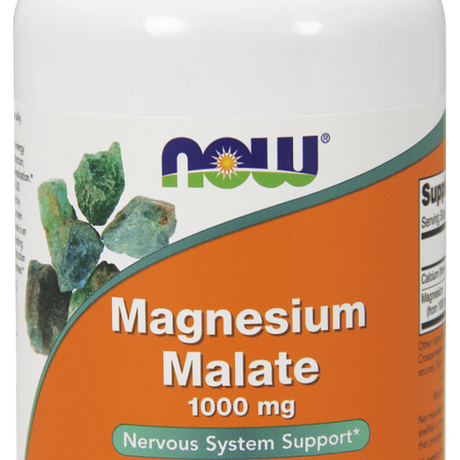 НАУ ФУДС МАГНЕЗИЕВ МАЛАТ 1000МГ 180 ТАБЛ / NOW MAGNESIUM MALATE 1000mg 180 TABS
