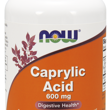 НАУ ФУДС КАПРИЛОВА КИСЕЛИНА ДРАЖЕТА 600 МГ. * 100 / NOW CAPRYLIC ACID 600 MG 100 SOFTGELS