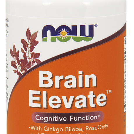 НАУ ФУДС БРЕЙН ЕЛЕВЕЙТ КАПС. * 60/ NOW BRAIN ELEVATE 60 VEG. CAPS