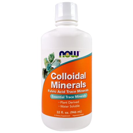 НАУ ФУДС КОЛОИДНИ МИНЕРАЛИ ORIGINAL 32oz) 946 МЛ / NOW COLLOIDAL MINERALS ORIGINAL 32oz (946ml)
