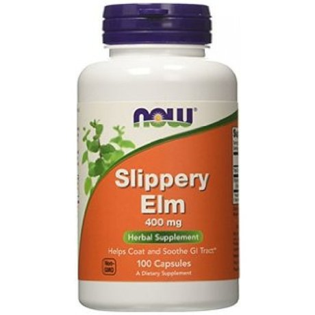НАУ ФУДС ХЛЪЗГАВ БРЯСТ КАПСУЛИ 400 МГ. * 100/ NOW SLIPPERY ELM 400 MG, 100 CAPS