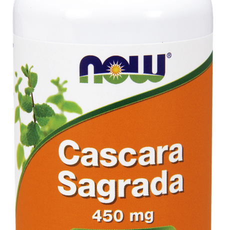 НАУ ФУДС КАСКАРА САГРАДА (ЗЪРНАСТЕЦ) КАПС. 450 МГ. * 100/ NOW CASCARA SAGRADA 450 MG, 100 CAPS