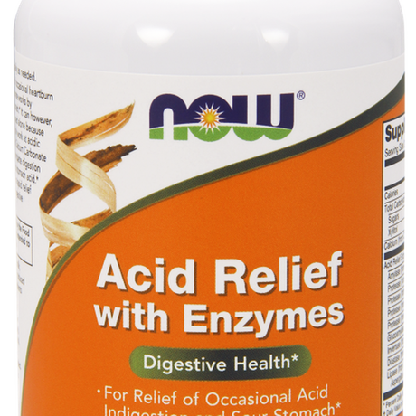 НАУ ФУДС АНТИАЦИД С ЕНЗИМИ 60 ДРАЖЕТА/ NOW ACID RELIEF WITH ENZYMES 60 CHEWABLES