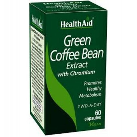 ХЕЛТ ЕЙД ЗЕЛЕНО КАФЕ И ХРОМ  60 КАПСУЛИ / HEALTH AID GREEN COFFEE BEAN EXTRACT 60vecaps