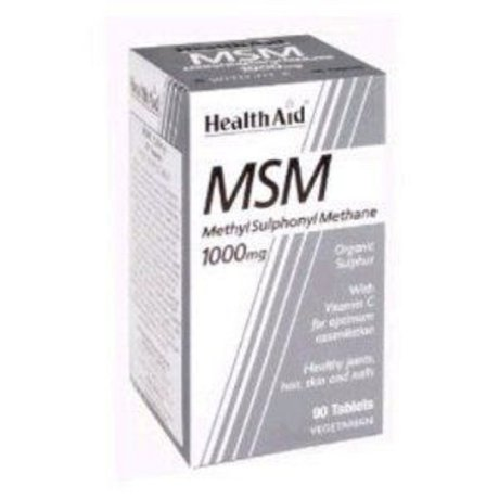 ХЕЛТ ЕЙД МЕТИЛСУЛФОНИЛМЕТАН / MSM1000MG 90 ТАБЛЕТКИ / HEALTH AID MSM 1000MG VEGETARIAN TABLETS 90'S