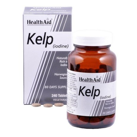 ХЕЛТ ЕЙД КЕЛП ЙОД 240 ТАБЛЕТКИ / HEALTH AID SUPER KELP TABLETS 240'S