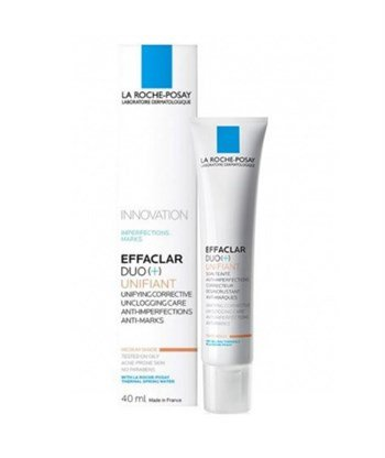 ЛА РОШ - EFFACLAR UNIFIANT DUO+ КОРЕКТОР НЮАНС MEDIUM 40 МЛ. / LA ROCHE POSAY EFFACLAR DUO UNIFIANT MEDIUM SHADE 40ML