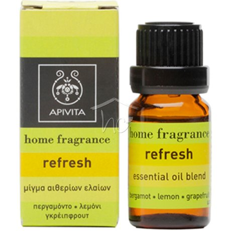 АПИВИТА ЕТЕРИЧНО МАСЛО С БЕРГАМОТ И ЛИМОН 10ML / APIVITA ESSENTIAL OIL REFRESH 10ML