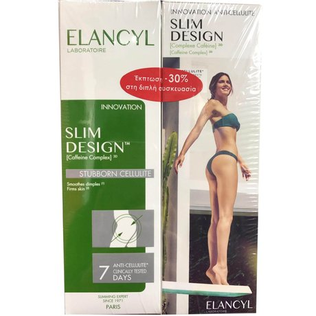 ЕЛАНЦИЛ СЛИМ ДИЗАЙН 2*200 МЛ/ ELANCYL DUO SLIM DESIGN STUBBORN CELLULITE 2X200ML