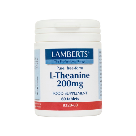 ЛАМБЕРТС  Л- ТЕАНИН 200 МГ. X 60 КАПС. / LAMBERTS L-THEANINE 200MG 60TAB