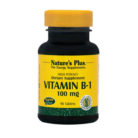 НЕЙЧЪРС ПЛЮС ВИТАМИН Б 1 ТАБЛ. 100 МГ.  90 / NATURE'S PLUS VITAMIN B-1 100 MG TABLETS 90