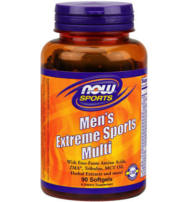 НАУ ФУДС МЕНС ЕКСТРИМ МУЛТИВИТАМИНИ  90 МЕКИ КАПС./MEN'S EXTREME SPORTS MULTI 90 SOFTGELS NOW
