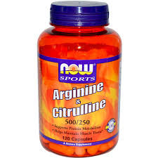 НАУ ФУДС АРГИНИН 500 МГ.+ ЦИТРУЛИН 250 МГ Х 120 ТБ./NOW ARGININE & CITRULINE 500/250mg - 120 Caps