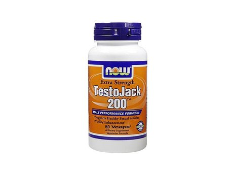 НАУ ФУДС ТЕСТО ДЖАК 200 КАПС 60/ NOW TESTO JACK 200(TM) EXTRA STRENGTH 60 VCAPS