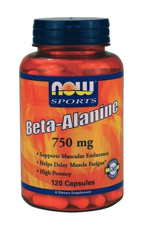 НАУ ФУДС БЕТА АЛАНИН 750 ГР 120 капс./NOW FOODS BETA-ALANINE 750MG 120CAPS