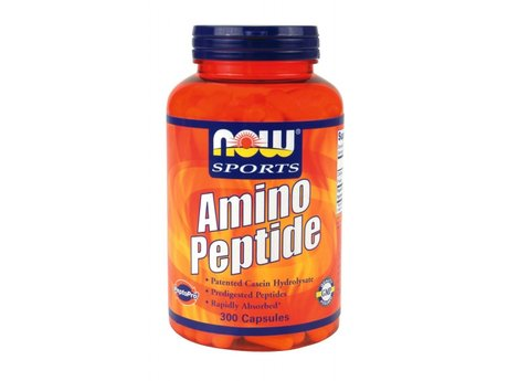НАУ ФУДС АМИНО ПЕПТИД КАПС.  300/NOW SPORTS AMINO PEPTIDE 400mg 300 CAPS