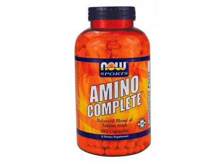 НАУ ФУДС АМИНО КОМПЛИЙТ КАПСУЛИ 850 МГ. 360/NOW SPORTS AMINO COMPLETE 750mg CAPS 360TMX