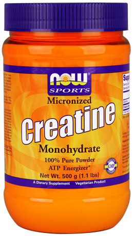 НАУ ФУДС КРЕАТИН 500 МГ. ПРАХ/NOW SPORTS MICRONIZED CREATINE MONOHYDRATE POWDER 500 GR