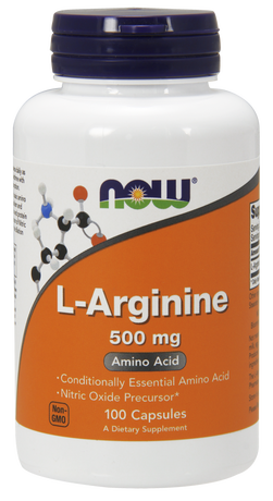 НАУ ФУДС АРГИНИН КАПС. 500 МГ. 100/NOW SPORTS L-ARGININE 500 MG, 100 CAPS