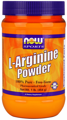 НАУ ФУДС АРГИНИН ПРАХ 454 ГР/.NOW SPORTS L-ARGININE POWDER 1LB (454GR)