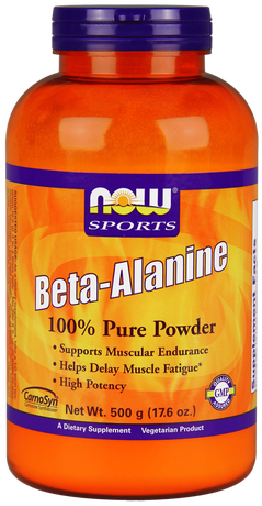 НАУ ФУДС БЕТА АЛАНИН 500 ГР. /NOWFOODS BETA-ALANINE 100% PURE POWDER, 500 GR