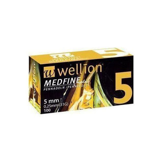 ВЕЛИОН ИГЛИ  31G x 5mm 100 БР. / WELLION MEDFINE 31G x 5mm *100